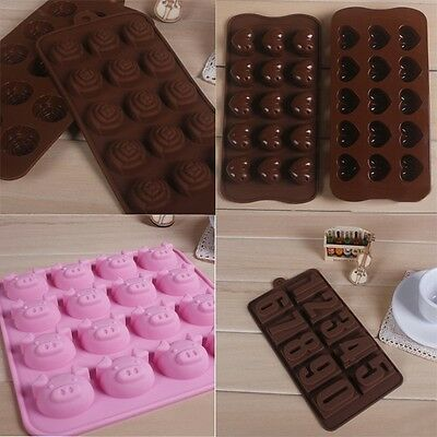 Hotsale Silicone Mold Chocolate Candy Jelly Tray Cake Cookie Mould Bakeware 1PC