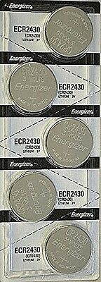 5 Pcs Energizer CR 2430 CR2430 ECR2430BP 3V Lithium Coin Cell Battery