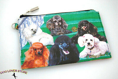 Poodle Dog Bag Zippered Pouch Travel Makeup Coin Purse
