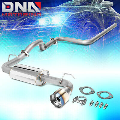 """4.75""""burnt Tip Stainless Steel Exhaust Catback System For 00-05 Dodge Neon 2.0L"""