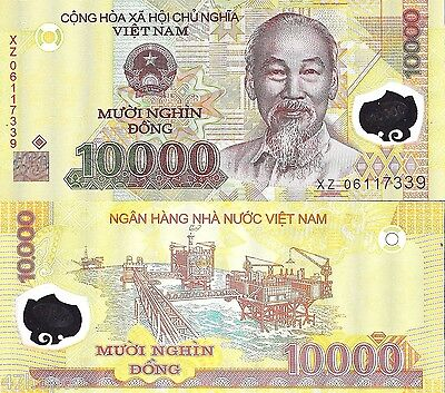 Vietnam 2011, 10000 Dong, Polymer Note UNC