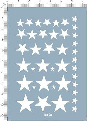 decals US ARMY STAR for different scales model kits (white) 31