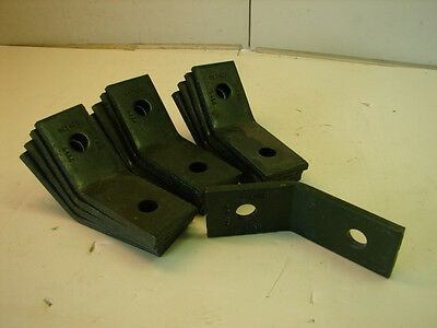 B-Line B154 45° Degree Two Hole Unistrut Green Zinc Plated Bracket (Lot Of 4)