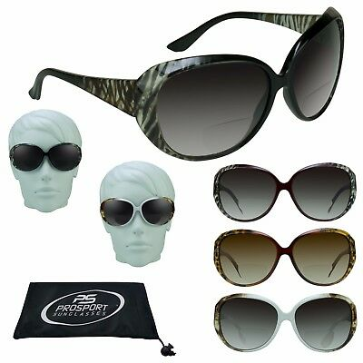 a43db2b41e4 Womens BIFOCAL Sunglasses Fashion Sun Readers Oversize Jackie O Zebra  Cheetah