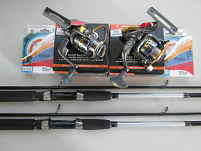 Yd 2000 Spinning Reel & Daiwa Sweepfire Spinning Rod & Spectra Line Twin Combo