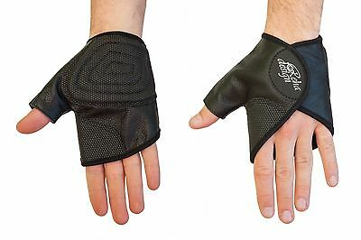 Wheelchair Gloves Leather - Ultra-Grip Quad Gloves Easy Open Gator Style