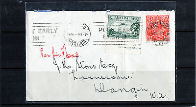 1936 Airmail Melbourne To Perth Flight Cover, CDS 31 MY 36, Good Condition