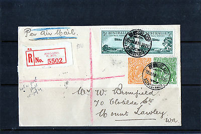1929 Adelaide To Perth Registered Airmail Cover, CDS 15 JU 29, VGC