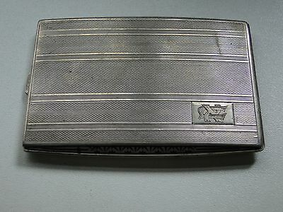 Cigarette Case, Sterling Silver, Engine Turn Engraving Art Deco, Germany 1930