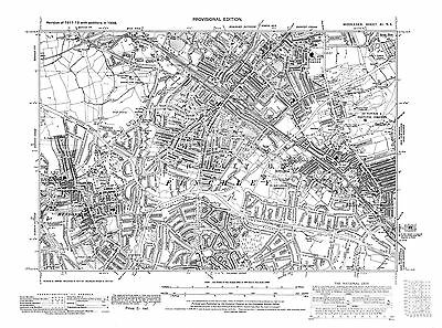Old map Finchley, Hendon, Golders Green (N) 1938 Middlesex repro 11-NE