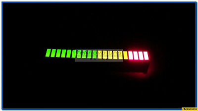 12 pcs TriColor Fixed 20-Segments LED Bargraph Array (for Audio VU Meter) - USA