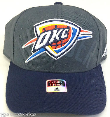 27c644809a232 NBA Oklahoma City Thunder Adidas Adult Structured Adjustable Fit Cap Hat  NEW!