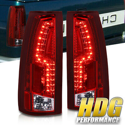 88-98 Chevy C10 C1500/K1500 C/K Red Lens New Generation Led Tail Lights Pair