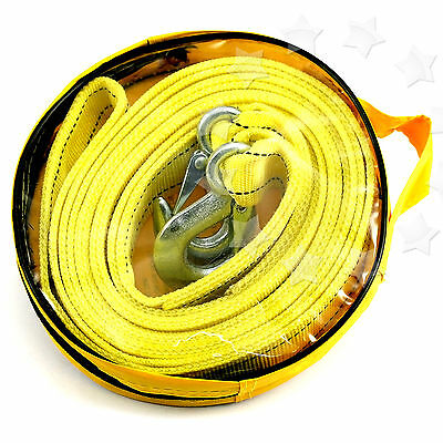 5T 4.5M 5 Tonne Towing Pull Rope Strap Heavy Duty Road Car Van 4X4 Recovery