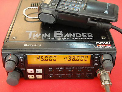 STANDARD C-5608D Twin Bander, 50 Watts, VHF-UHF, Remote Mic, EXCELLENT!!!