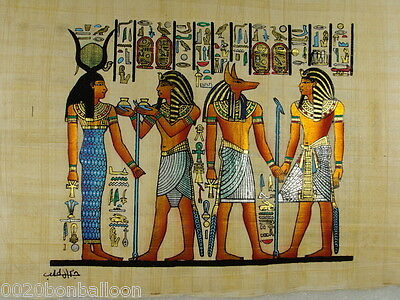 "Hand Painted Papyrus 8""X12"" ( 20x30cm ) Anubis  Original Egyptian Hand Made"