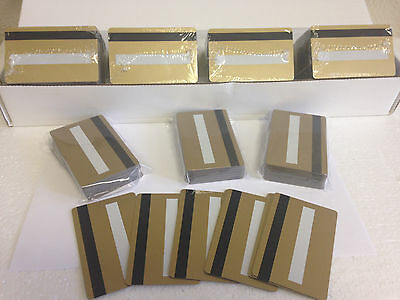 500 Gold CR80 PVC Cards - HiCo MagStripe 2 Track w/ Signature Panel - ID Printer