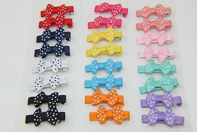 32 pcs Mixed Colours Toddler Baby Kids Girls Ribbon Bow Bowknot Hair Clips