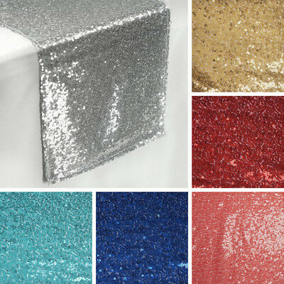 "3 Dozen SEQUIN 36 TABLE RUNNERS 12x108"" Wedding Party Catering Reception Linens"