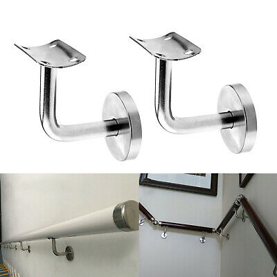 Set of 2x Handrail Stair Wall Bracket to suit round 55-60mm toprail