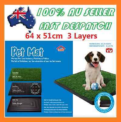 Indoor Dog Pet Potty Zoom Park Training Portable Mat Toilet Large Loo Pad Tray