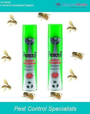 Protector FCIK wasp killer poison spray treatment for wasps and ticks 400ml x 2