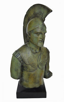 Achilles statue bust Trojan war Leader Hero of The Myrmidons bronze artifact