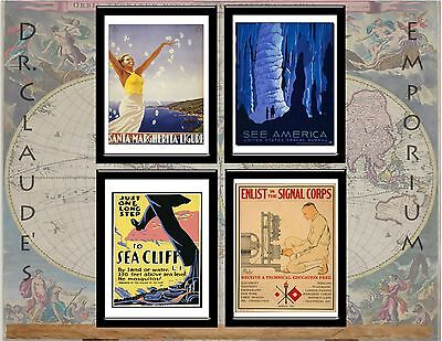 Prints: Vintage Antique Advertising - 4 Sizes: Early Civil, Military,and Travel