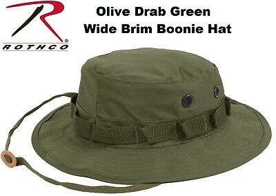 Olive Drab Green Military Tactical Wide Brim Bucket hat Hunting Boonie Hat 5811