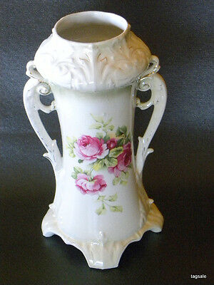 ANTIQUE VASE -PORCELAIN LUSTER FINISH ROSES ROYAL BRUXONIA OF AUSTRIA read more