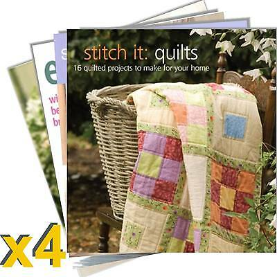 Inspirations Magazine 4 Book Pack #2 New Inc Patterns Sewing Embroidery RRP $114
