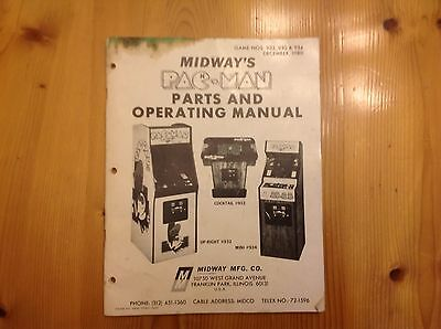 Midway's PAC-MAN pacman installation owners manual original book PAC man