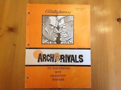 Bally Midway arch rivals installation owners manual original book