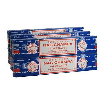 12 Packs Origional Satya Sai Baba Nag Champa Incense Sticks Joss Insence Incense