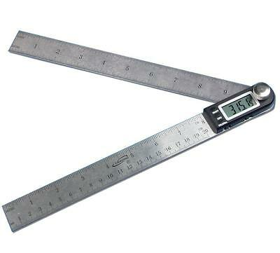 "Igaging 10"" 250mm 360 Degree Digital Angle Rule Ruler Gauge Protractor 2 in 1"