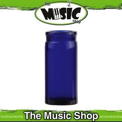 Brand New Jim Dunlop 278BL Blues Bottle Glass Blue Large Guitar Slide - J278BL