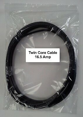 AUTOMARINE 12V 24V 5m LENGTH 16.5 AMP 2 CORE FLAT TWIN THIN WALL CAR CABLE WIRE