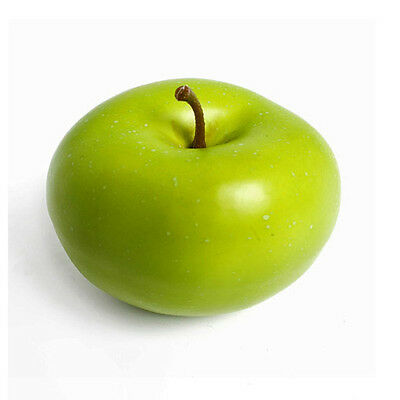 Artificial green Apple 8cm Realistic Life Size Fake Mock Fruit