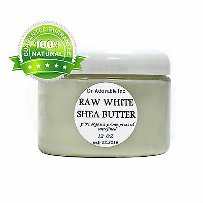 Premium Shea Butter WHITE Unrefined Raw Organic High Quality  You Pick Size!