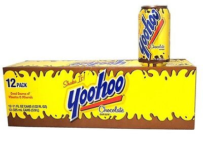 Yoo Hoo Chocolate Drink 12pk cans 12/12oz cans Rare Find!