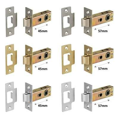 MORTICE TUBULAR LATCH Internal Quality Door Catch Pol/Satin Chrome Brass