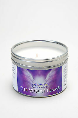 The Violet Flame Archangel Aromatherapy Sacred Soy Wax Candle
