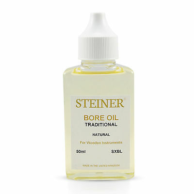 Bore Oil For Clarinets, Oboes, Bassoons, Bagpipes By Steiner Music Large 50Ml
