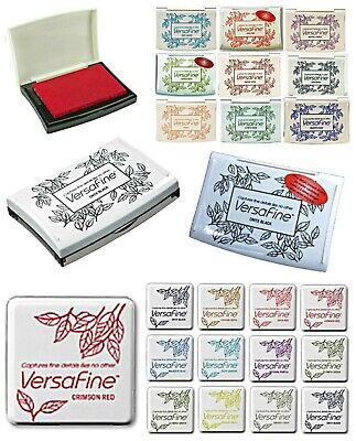 VERSAFINE INK PADS. SMALL or FULL SIZE PAD. PIGMENT INK PADS by TSUKINEKO