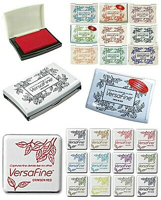 VERSAFINE INK PADS. SMALL or FULL SIZE PADS. PIGMENT INK PADS by TSUKINEKO