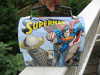 Superman Domed Tin Workman's Lunch Box.