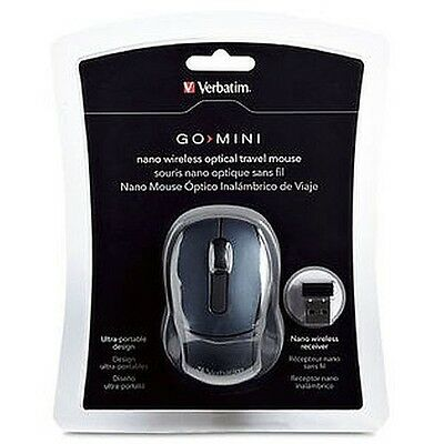 Genuine Verbatim Wireless Optical Mini Travel Mouse - Graphite Reorder #: 97470