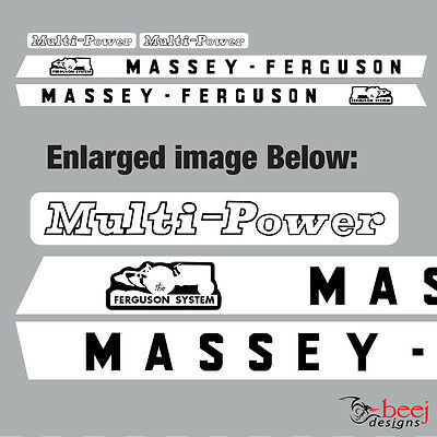 Massey Ferguson Multi Power decal set Left & Right sides, tractor etc