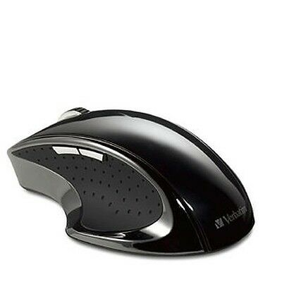 ($0 P&H)Genuine Verbatim Wireless Desktop Optical Ergo Mouse Black Reorder 97591