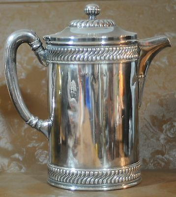 Navy Silverplate/soldered Water Decanter or Pitcher Ceramic Lining Officers Mess